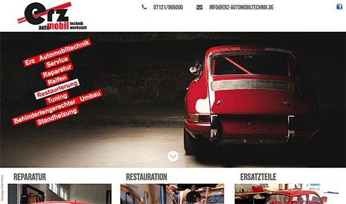 Website Harald Erz Automobiltechnik
